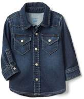 Gap Super soft denim western shirt