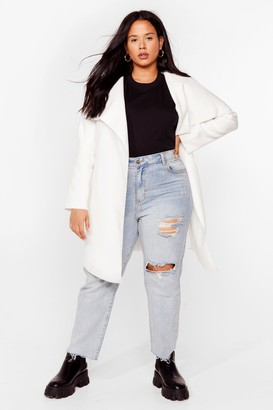 Nasty Gal Womens Tailored to You Plus Longline Jacket - White