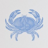 The Well Appointed House Bone White Note Pad with Blue Crab Motif - IN STOCK IN OUR GREENWICH STORE FOR QUICK SHIPPING