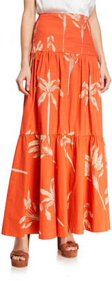 Johanna Ortiz Powerful Rhythm Tiered Maxi Skirt