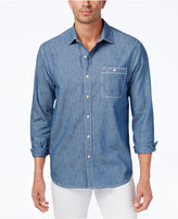 Tommy Bahama Men's Kraken Me Up Embroidered Chambray Shirt