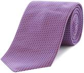 HUGO BOSS Silk Micro Grid Textured Tie
