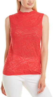 Lafayette 148 New York Knitted Lace Sweater