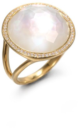 Ippolita Lollipop 18K Yellow Gold, Mother-Of-Pearl Doublet & Diamond Medium Ring