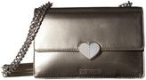 Love Moschino Metallic Shoulder Bag w/ Heart Shoulder Handbags