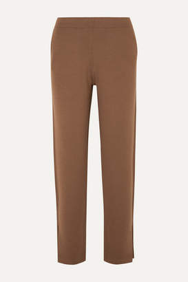 Allude Wool Track Pants - Brown