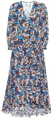 Alexandra Miro Maria floral cotton-poplin dress