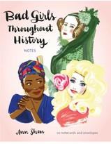Chronicle Books Bad Girls Throughout History Note Cards - Pink