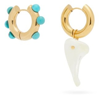 Timeless Pearly Mismatched Pearl & 24kt Gold-plated Hoop Earrings - Gold