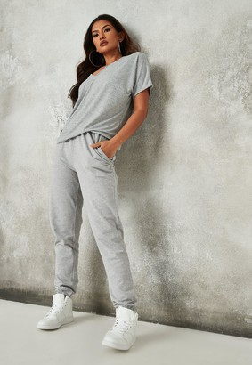 Missguided Tall Grey Marl Basic Joggers
