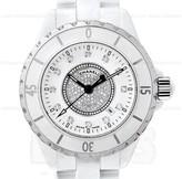 Chanel J12 Automatic H1759 White Ceramic Pave Diamond Watch