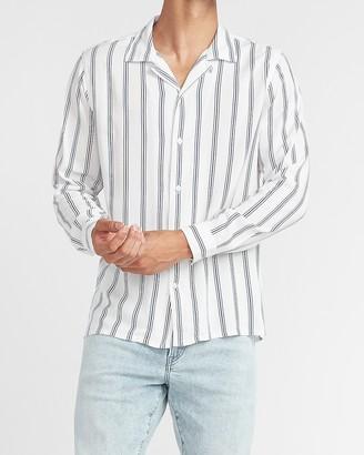 Express Slim Striped Rayon Shirt