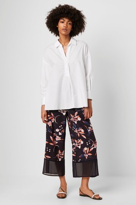 French Connection Elvia Drape Printed Culottes