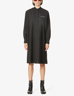 MM6 MAISON MARGIELA Logo-print cotton midi dress
