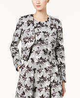 Nine West Floral Jacquard Open-Front Blazer