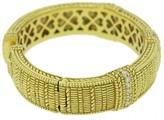 Judith Ripka 14k Yellow Gold Diamond Hinged Cuff Bracelet