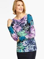 Talbots Lush Dahlias Sweater