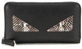 Fendi Snakeskin-trimmed Leather Wallet