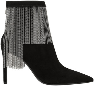 Balmain Mercy Chain-embellished Suede Ankle Boots