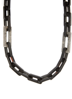 Maiyet Rectangle Long Horn & 16.85 Total Ct. Diamond Link Necklace