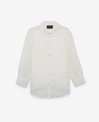 The Kooples Fitted white shirt w/camisole and heart print