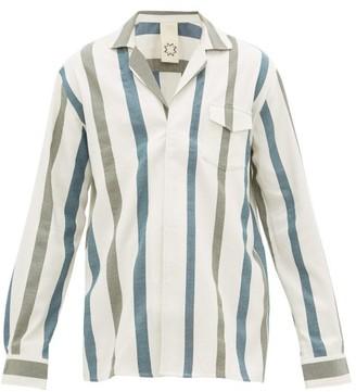 Marrakshi Life - Striped Cotton-blend Pyjama Shirt - Cream Multi