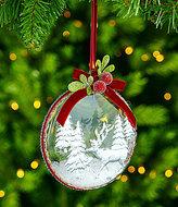 Southern Living Nostalgic Noel Reindeer Disk Ornament