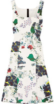 Erdem Tate Floral-print Tech-jersey Dress - White