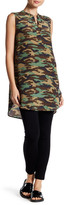 Acrobat Sleeveless Camo Print Silk Tunic