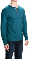 Hanes Beefy-T Henley Shirt - Cotton, Button Neck, Long Sleeve (For Men)