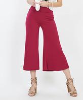 Lydiane Women's Casual Pants WINE - Wine Gaucho Pants - Women