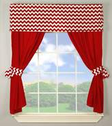 Babydoll Baby Doll Chevron Window Valance and Curtain Set