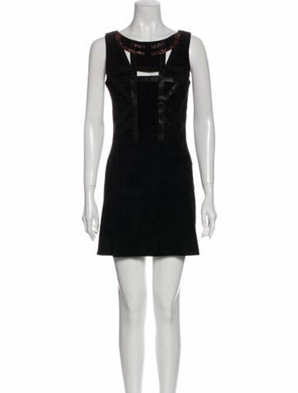 Jitrois Scoop Neck Mini Dress Black