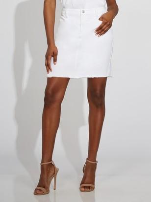 New York & Co. White Denim Skirt - Gabrielle Union Collection