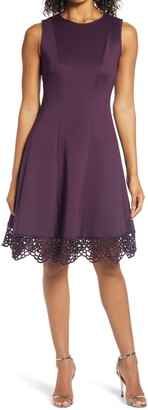 Donna Ricco Sleeveless Fit & Flare Dress