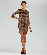 Jones New York Collection Leopard-Print Zip-Shoulder Dress