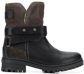 Tommy Jeans lined biker boots