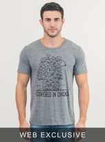 Junk Food Clothing Covered In Chicks Tee-steel-m