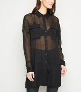 New Look Noisy May Mesh Long Sheer Shirt