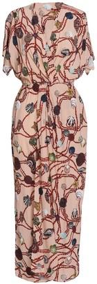 AILANTO Pearls & Shells Wrap Dress