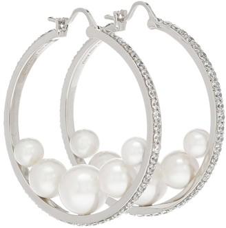 Miu Miu Embellished hoop earrings