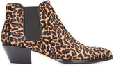 Alexa Wagner leopard print boots - women - Leather/Calf Hair - 37