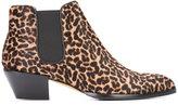 Alexa Wagner leopard print boots