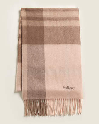 Mulberry Check Wool Scarf