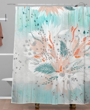 Deny Designs Iveta Abolina Tropical Teal Shower Curtain Bedding
