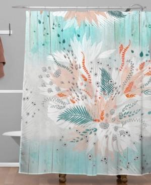 Deny Designs Iveta Abolina Tropical Teal Shower Curtain Bedding