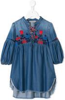 Ermanno Scervino embroidered denim tunic top