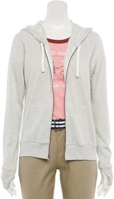 So Juniors' Favorite Long Sleeve Zip Up Solid Hoodie