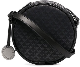 Emporio Armani Round Logo-Print Shoulder Bag