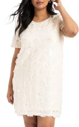 ELOQUII Sequin Shift Dress